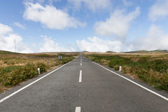 Empty neverending street with horizon Royalty Free Stock Images