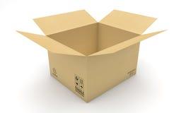 Empty new cardboard box  Stock Photo