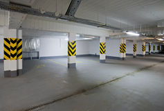 Empty new garage Stock Photography