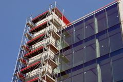 Empty new modern glass house w Royalty Free Stock Photo