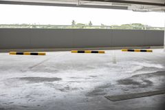Empty new parking interior for background.  Royalty Free Stock Photo