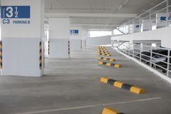 Empty new parking interior for background.  Royalty Free Stock Images