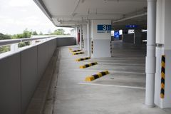 Empty new parking interior for background.  Royalty Free Stock Photos