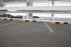 Empty new parking interior for background.  Stock Photo