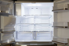 An empty new refrigerator Stock Image