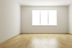 Empty new room Stock Photography
