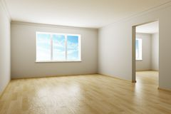 Empty new room Stock Photo