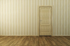 Empty new room with door Royalty Free Stock Photos
