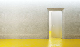Empty new room with door Royalty Free Stock Image