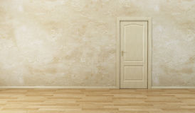 Empty new room with door Royalty Free Stock Photo