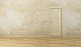 Empty new room with door Royalty Free Stock Photo