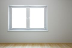 Empty new room with window Royalty Free Stock Image