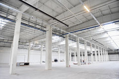 Empty new storage depot Royalty Free Stock Photography