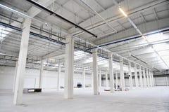 Empty new storage depot Royalty Free Stock Photography