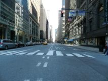 New York Street. Empty New York street in the summer Royalty Free Stock Photography