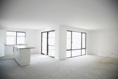 Empty newly built house interior Royalty Free Stock Images