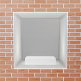 Empty Niche Vector. Realistic Brick Wall. Clean Shelf, Niche, Wall Showcase. Good For Presentations, Display Your Royalty Free Stock Photo