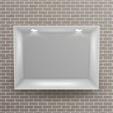 Empty Niche Vector. Realistic Brick Wall. Clean Shelf, Niche, Wall Showcase. Good For Presentations, Display Your Royalty Free Stock Photos