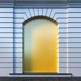 Empty niche at a wall. Royalty Free Stock Image