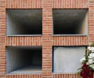 Empty niches Stock Photos