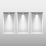Empty niches in wall with spot lights vector Royalty Free Stock Images