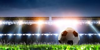 Free Empty Night Football Arena In Lights Stock Image - 160798701