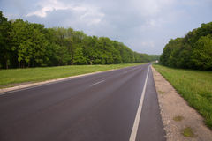 Empty non-urban road. Summer shot royalty free stock images