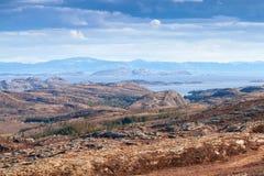 Empty Norwegian coastal landscape with sea Royalty Free Stock Photos