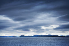 Empty Norwegian stormy sea landscape Royalty Free Stock Photo