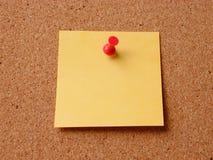 Empty Note. On corkboard stock photos