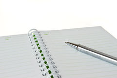 Empty note book Stock Photography