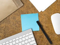 Empty note on the desk. Royalty Free Stock Photography
