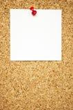 Empty Note On Cork Board Royalty Free Stock Photo