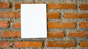 Empty note paper. Stock Photography