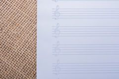 An empty note paper for musical notes Stock Photo