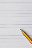 Empty note paper and pencil Royalty Free Stock Image