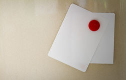 Empty note paper sheet on refrigerator door,The colors notepate Royalty Free Stock Image