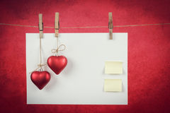Empty note for valentine message Stock Photo