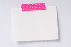 Empty note on the wall. Isolated, white background Royalty Free Stock Images