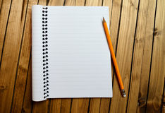 Empty notebook with crayon Royalty Free Stock Photo