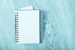 Empty notebook page Stock Photos