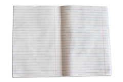 Empty notebook pages Stock Photo