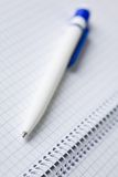 Empty notebook and pen. A photo of a pen on the spiral notebook Royalty Free Stock Image