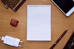 Empty notebook on the table