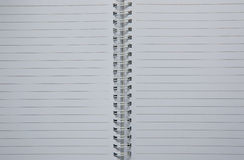 Empty notebook. Two page opening stock image