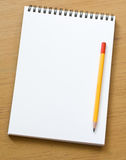 Empty notepad Stock Image
