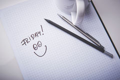 Free Empty Notepad In Office. Snack Time In A Work. Pencil And Pen As Tools Of Creation. Royalty Free Stock Images - 69803349