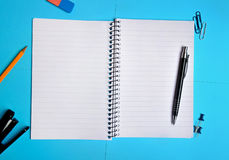 Empty notepad Stock Images