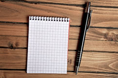 Empty notepad and pen Stock Image