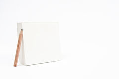 Empty Notepad With Pencil Royalty Free Stock Photos
